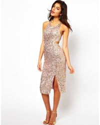 ASOS Collection Holographic Sequin Dress - Lyst