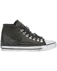 Black Dioniso Metal Chainmail On Cotton Trainers - Black