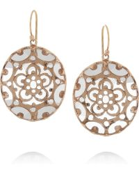 Laurent Gandini | Orecchini Bisanzio 9karat Rose Gold Rock Crystal Earrings | Lyst