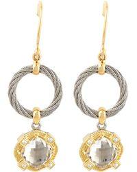 Charriol - White Topaz Drop Earrings - Lyst