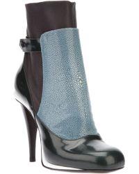 Fendi Colour Block Ankle Boot - Lyst