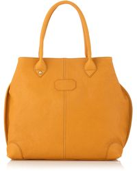 Gianfranco Ferré - Medium Washed Leather Tote Bag - Lyst