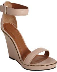 Givenchy Zipper Trim Wedge Sandal - Brown