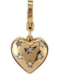 Juicy Couture Pave Heart Charm - Lyst