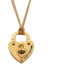 Juicy Couture - Turnlock Heart Starter Necklace - Lyst