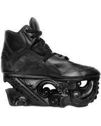 KTZ Calf Wood Sculptured Sneakers - Black