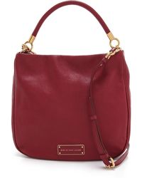 Marc By Marc Jacobs Leather Hobo Bag - Red