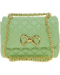 Boutique Moschino Leather Sweet Shoulder Bag - Green