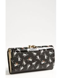 Ted Baker Cotton Dog Bobble Matinee Wallet - Lyst