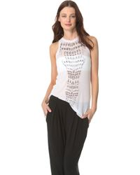 Willow - Optical Spine Tank - Naturalblack - Lyst