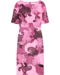 Erdem Iris Embroidered Lace and Wool Blend Crepe Dress - Lyst