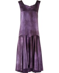 Erickson Beamon Embellished Silk Dress - Purple