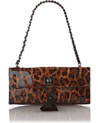 Love Moschino | Leopard Print Flapover Shoulder Bag | Lyst
