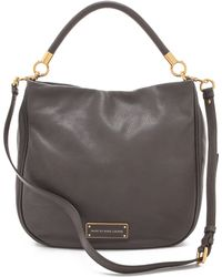Marc By Marc Jacobs Leather Hobo - Grey