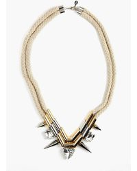 Nasty Gal Highlight Crystal Necklace - Lyst