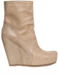 Rick Owens Calfskin Wedge Boots - Lyst