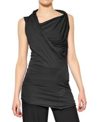 Rick Owens Viscose Cotton Heavy Jersey Top - Lyst