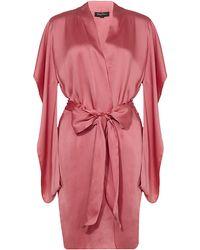 Jenny Packham Short Silk Robe - Lyst