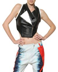 Jean-Pierre Braganza - Two Tone Smooth Leather Vest - Lyst