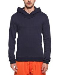 Adidas Slvr Basic French Terry Hooded Sweatshirt blue - Lyst