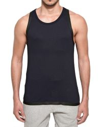 Adidas Slvr Cotton and Silicon Tape Tank Top - Lyst