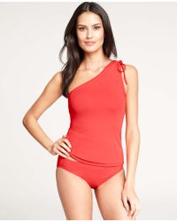 Ann Taylor One Shoulder Tankini Top - Lyst