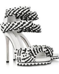 Camilla Skovgaard Woven Leather Sandals - Black