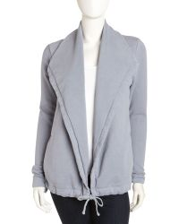James Perse Drawstringwaist Terry Jacket - Lyst