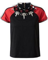 Marni Embellished Retro Cotton T-Shirt - Lyst