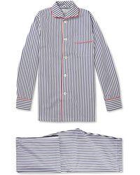 Turnbull & Asser Striped Cotton Pyjamas - Blue
