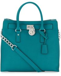 Michael Kors Hamilton Large Northsouth Tote green - Lyst