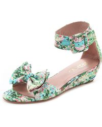 RED Valentino Ankle Strap Sandals - Green