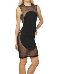 Stella McCartney Silk Organza And Viscose Cady Dress - Lyst