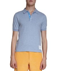 Thom Browne Jersey Polo - Lyst