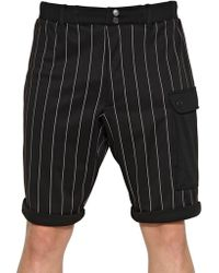 Y-3 Pinstriped Jersey Low Crotch Shorts - Lyst