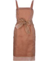 Fendi Silk Organza Check Dress - Lyst