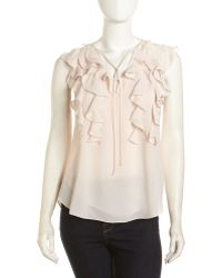 Rebecca Taylor Long-Sleeve Floral Printed Blouse - Lyst