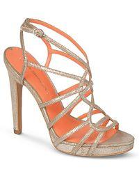 Via Spiga Platform Evening Sandals Promise High Heel - Lyst