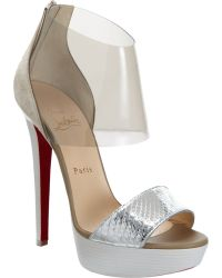 Christian Louboutin Dufoura silver - Lyst