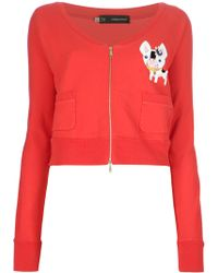 DSquared² Cropped Sweatshirt - Lyst