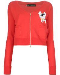 DSquared² Cropped Sweatshirt - Lyst
