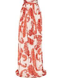 Giambattista Valli Printed Skirt red - Lyst
