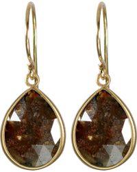 Me&Ro - Sandy Red Opaque Diamond Earrings - Lyst