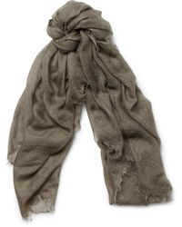 Rick Owens Cashmere and Silkblend Scarf - Lyst