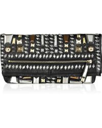 By Malene Birger - Morcheba Embellished Leather Clutch - Lyst