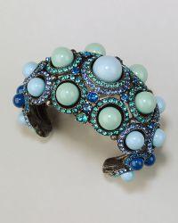 Lanvin - Cabochon Crystal Cuff Blue - Lyst