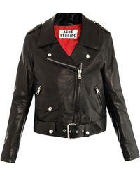 Acne Studios Mape Leather Jacket - Lyst