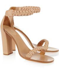 Chloé Macramé Leather Sandals - Natural