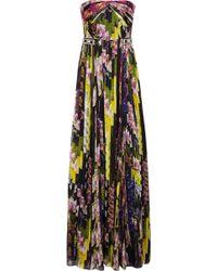 Matthew Williamson Floral Print Silk Chiffon Gown - Lyst