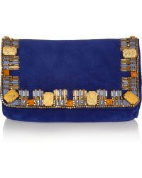 Matthew Williamson Poppy Small Embellished Clutch - Red